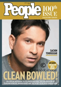 Sachin Tendulkar-People Magazine-100th Edition